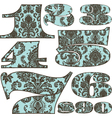 floral letters vector image vector image