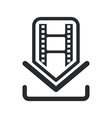 film download icon vector image vector image