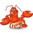 Cute lobster cartoon waving isolated vector image vector image