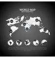 world map design vector image