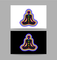 yoga chakra template vector image vector image