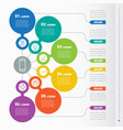business presentation concept with 6 options web vector image
