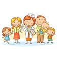 cartoon family doctor vector image
