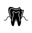 Dental caries icon black vector image