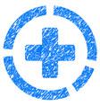 health care diagram grunge icon vector image
