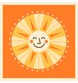 Retro style cartoon sun vector image