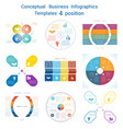 set infographics conceptual cyclic processes four vector image
