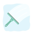 Squeegee icon in cartoon style isolated on white vector image