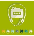 Flat design music player vector image