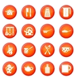 Kitchen tools icons set vector image