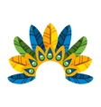 feather tropical carnival decoration vector image