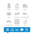 ventilation garage and heat radiator icons vector image