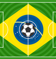 World soccer championship in Brazil vector image