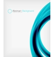 Elegant swirl shaped modern business template vector image vector image