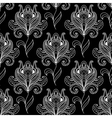 Monochrome paisley seamless floral pattern vector image