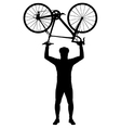 Bicycle above my head vector image vector image