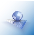 Globe world on the chart Abstract vector image