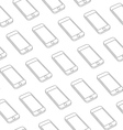 Seamless Pattern with Repeating Smart Phone vector image vector image