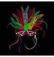 Mardi grass party mask Vector Image