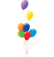 rainbow baloons vector image