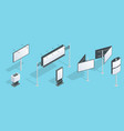 billboard isometric set of different perspectives vector image