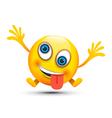 crazy emoji character vector image