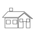 house home real estate chimney window vector image