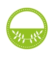 seal with leaves natural isolated icon design vector image