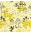 seamless pattern honey vector image