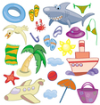 Summer and travel set vector image