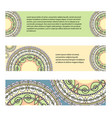 set of horizontal banners with geometric patterns vector image