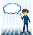 A man standing with an empty callout vector image vector image