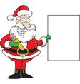 Cartoon Santa Claus Holding a Sign vector image