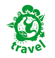 Logo journey around the planet vector image