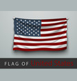 FLAG OF USA battered hung on the wall vector image vector image