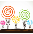 colorful swirl tree vector image