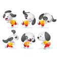 cute dog character action vector image
