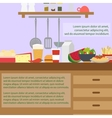 Kitchen interior with furniture vector image