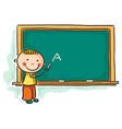 little boy at the blackboard vector image