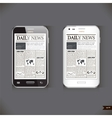 Modern smart phone with business news article vector image