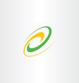 natural bio icon wave logo design element vector image