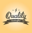 quality handcrafted emblem poster vector image