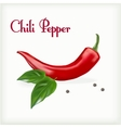 Red hor chili pepper vector image