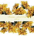 Sunflower card vector image