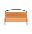 wooden outdoor bench urban infrastructure element vector image
