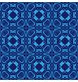 Mosaics tiled blue seamless pattern vector image