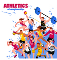 Colorful Sport Isometric Poster vector image