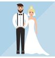 wedding of a cute boy and girl vector image vector image