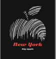 new york big apple t-shirt graphic design with vector image