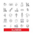 illnessaffliction ailment sickness disease vector image